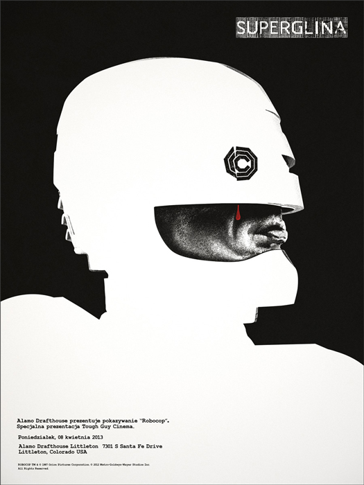Robocop (1987) poster by Jay Shaw.