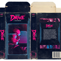 Faux-VHS cover art for the Ryan Gosling vehicle Drive