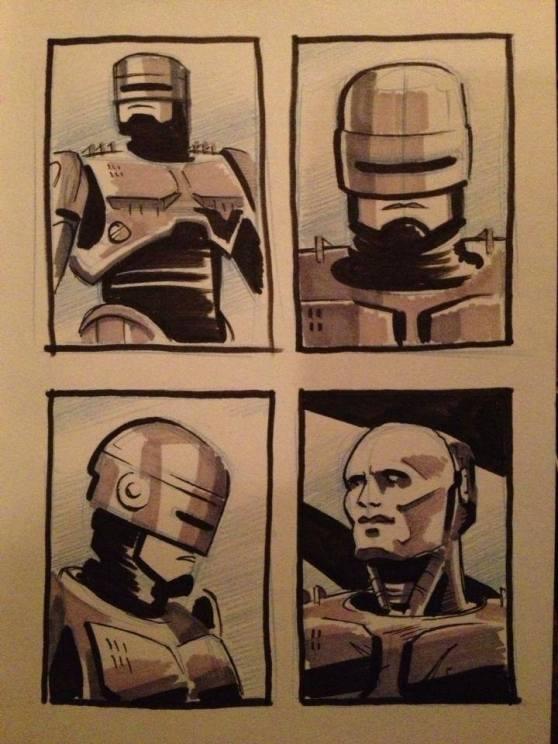 Robo Cop doodles
