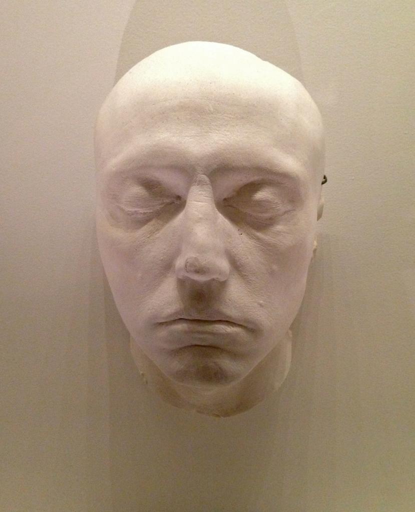 Life mask of Christopher Walken for Dogs of War (1980).
