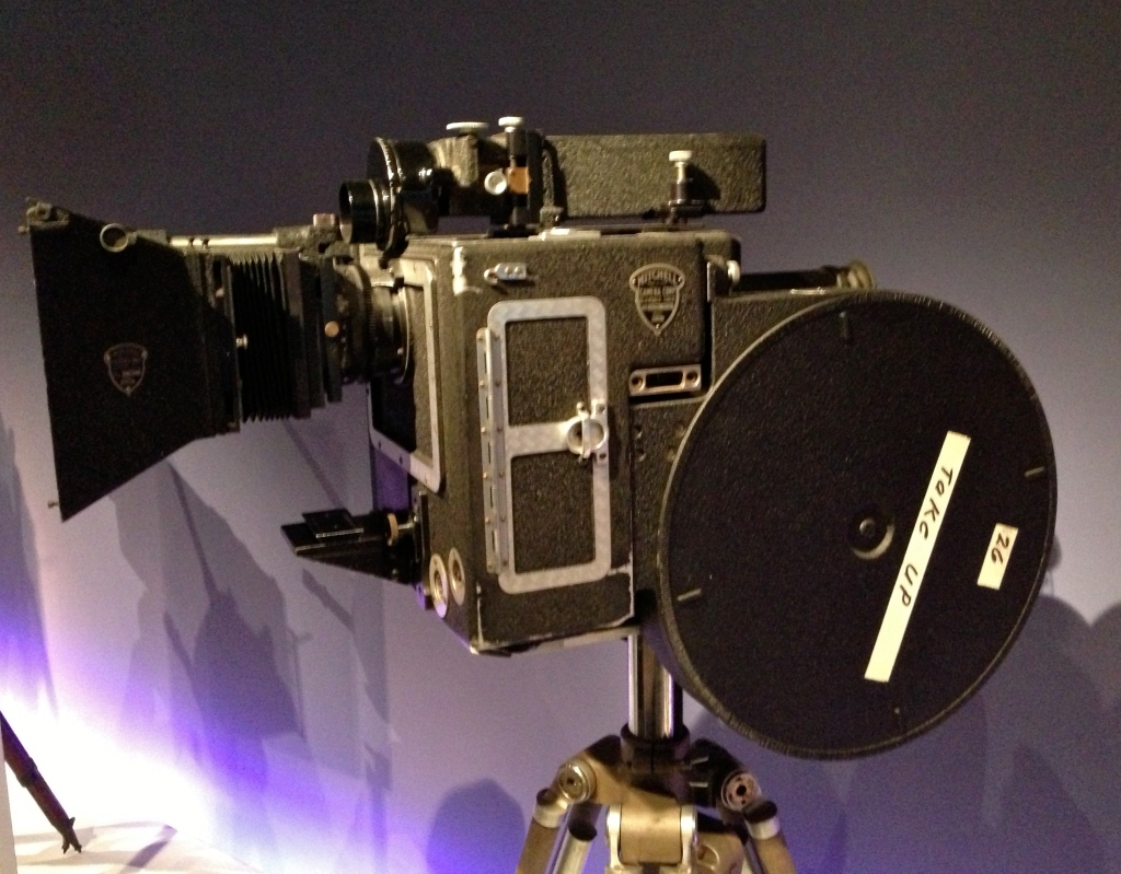 A Mitchell VistaVision camera from 1954, used to shoot Paramount's widescreen films of the era.