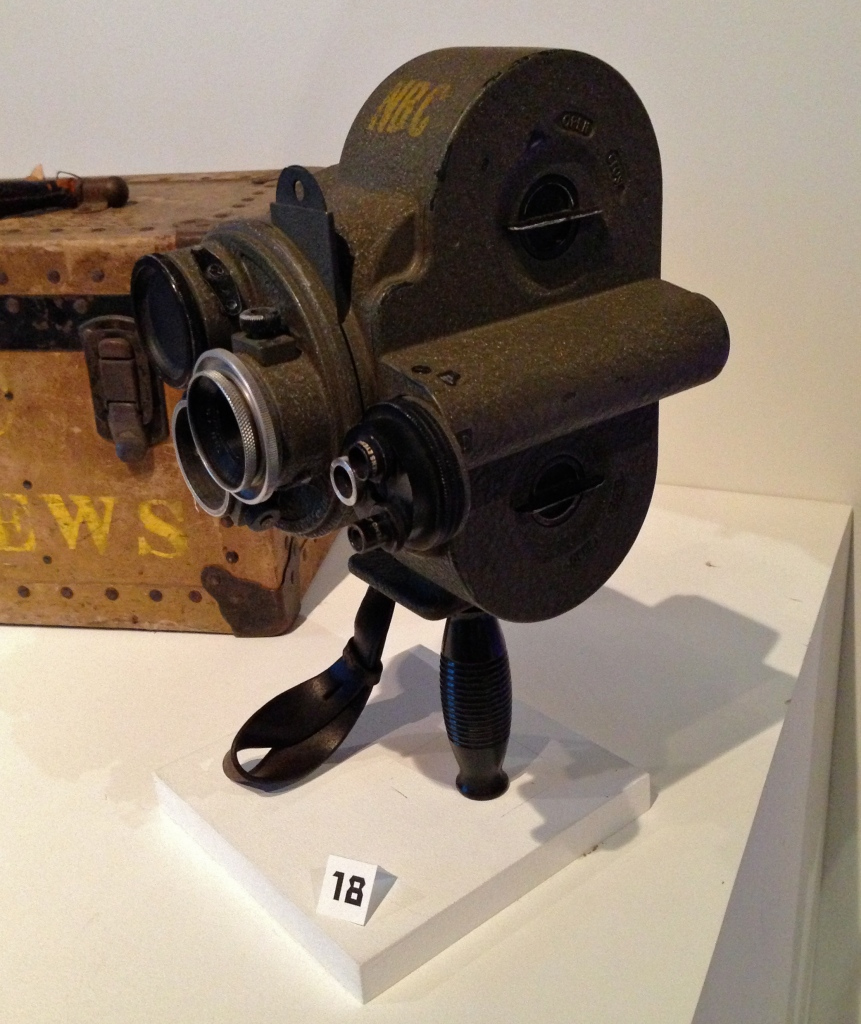 The Eyemo (Bell & Howell, circa 1932) was one of the first 35mm cameras intended for handheld shooting.