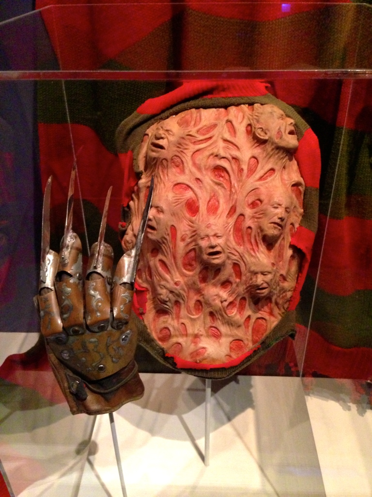 The chest prosthetic and Freddy Krueger's glove from the Nightmare on Elm Street films.