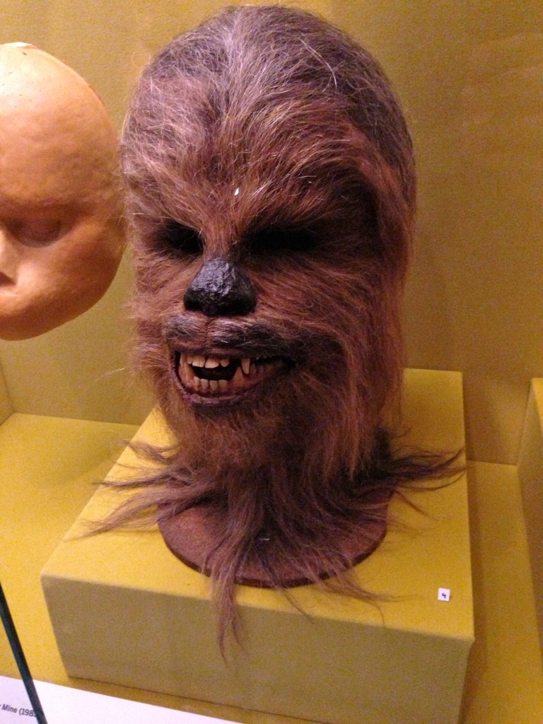 Chewbacca head worn by Peter Mayhew in Star Wars (1977).