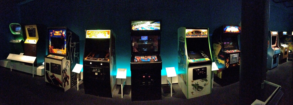 The museum's collection of still functioning arcade games, including Frogger and Donkey Kong.