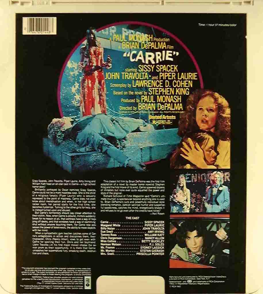 Videodisc, back
