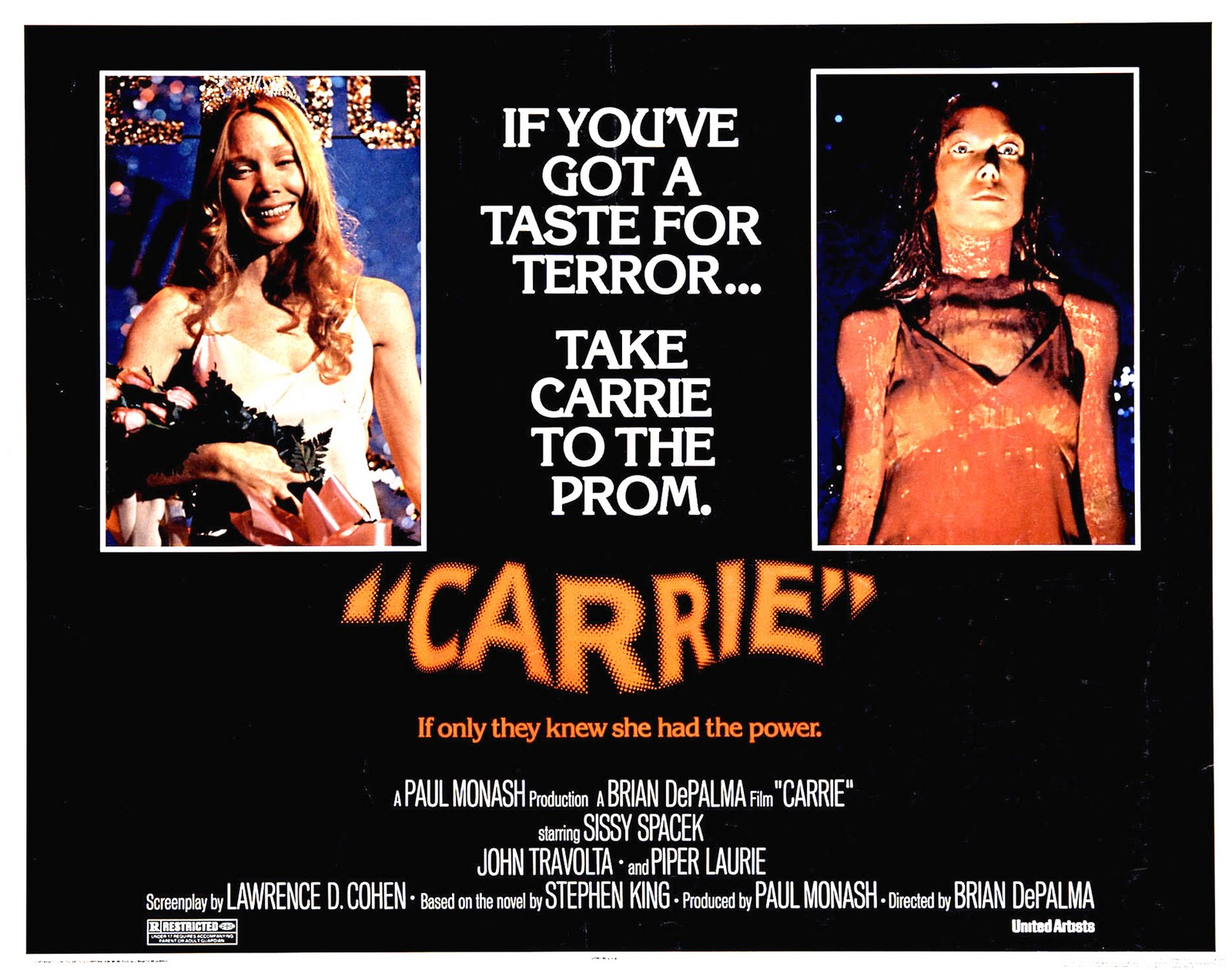 Image result for original carrie movie poster