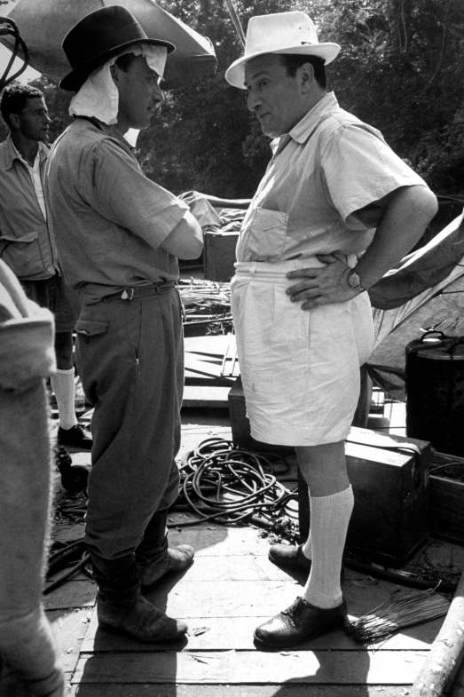 Director of photography Jack Cardiff (left) and producer Sam Spiegel (right)