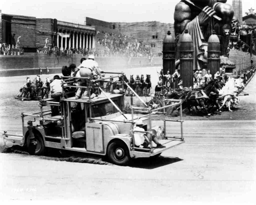The camera truck used for the chariot sequence.