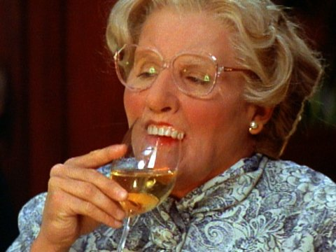 Mrs. Doubtfire teeth (bloody disgusting)