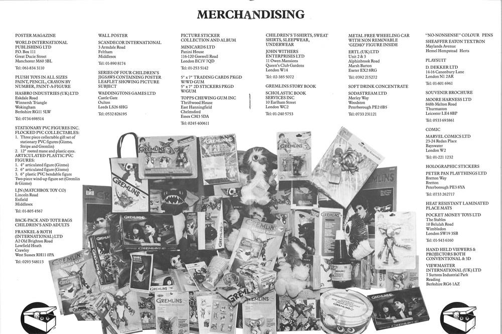 Gremlins (1984) merchandising.