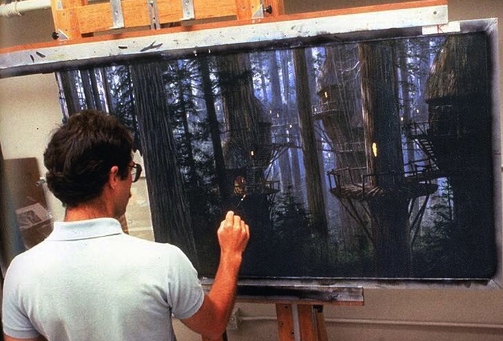 A Return of the Jedi matte painting.