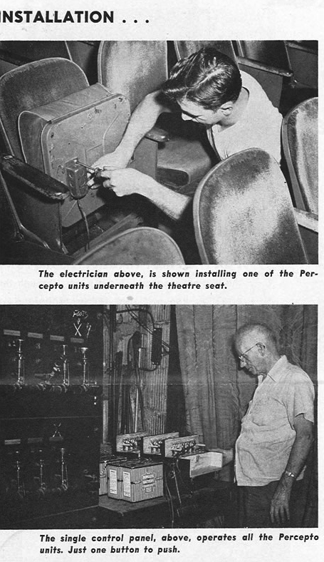 How to install the buzzer-rigged seats for William Castle's The Tingler (1959).