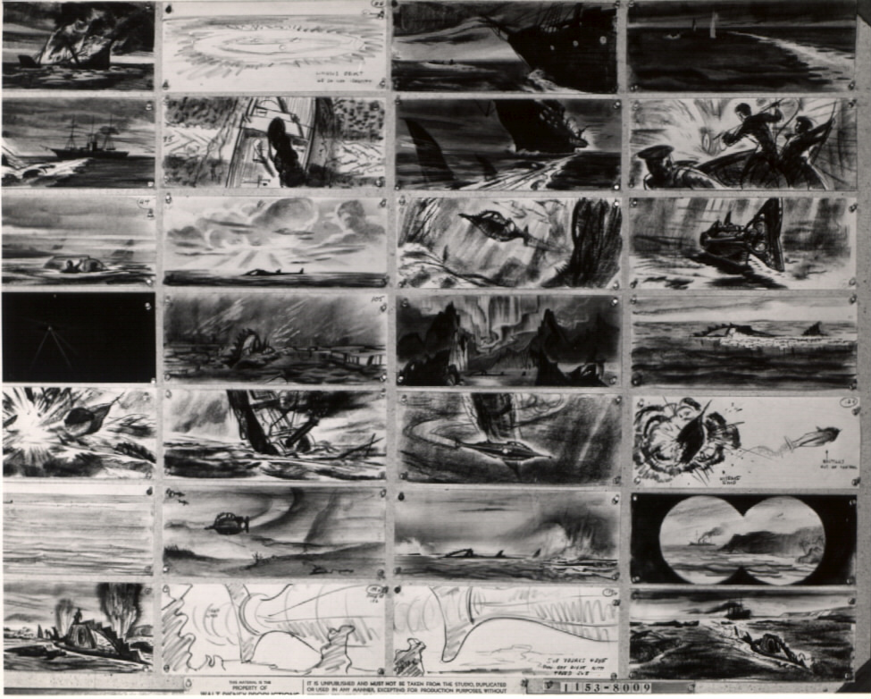 20,000 Leagues Under the Sea storyboards