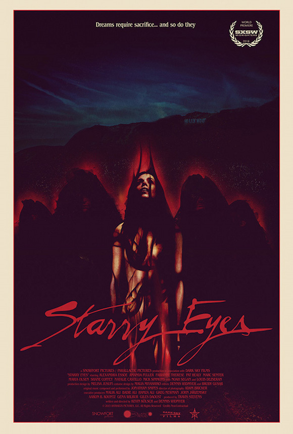 Starry Eyes poster (by jay shaw) (rhino's horror)