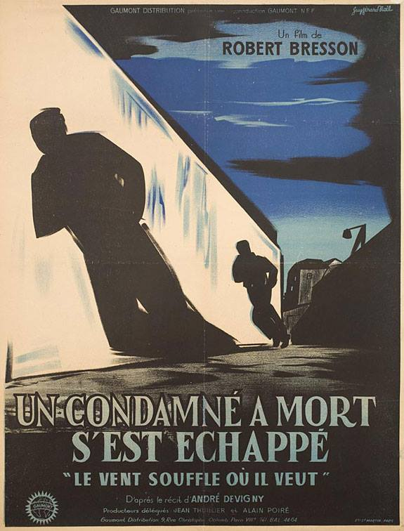 A Man Escaped french poster (kino images)