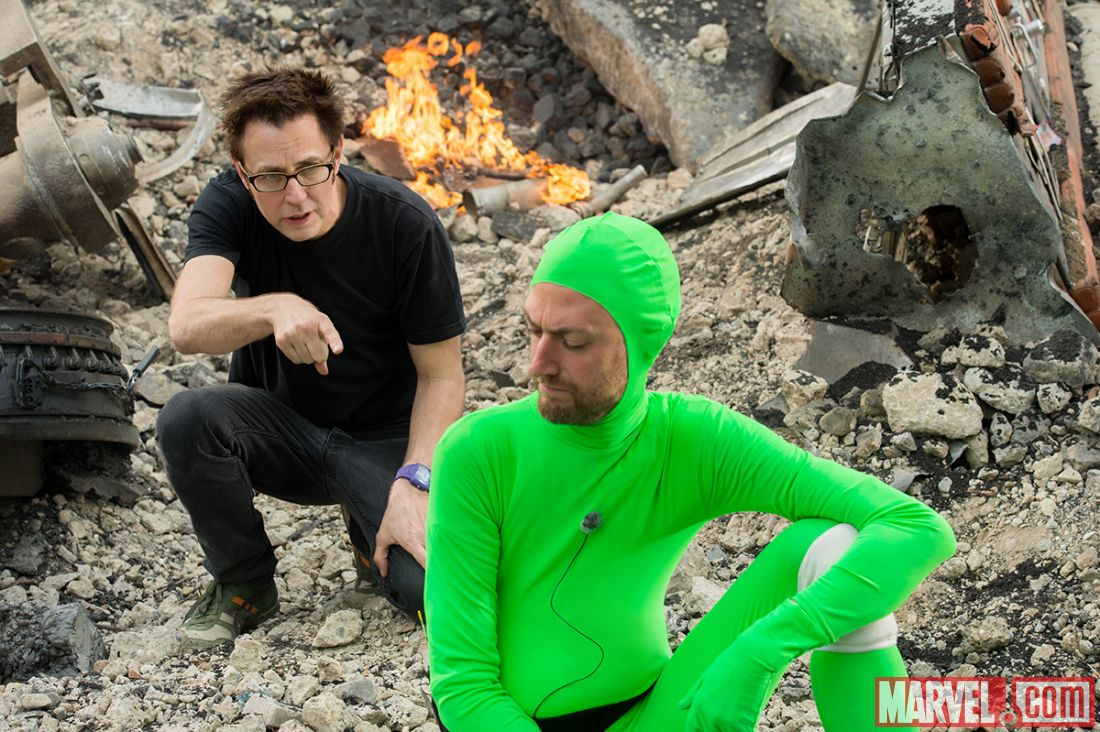 Guargians (James Gunn directs brother Sean Gunn filling in for the CIG Rocket) (marvel)