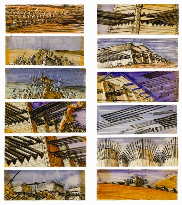 Saul Bass storyboards from Spartacus (kino images)