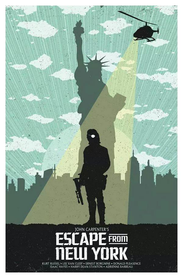 Escape From New York Poster.Movie Poster Of The Day Escape From New York 1981 Deep Fried Movies