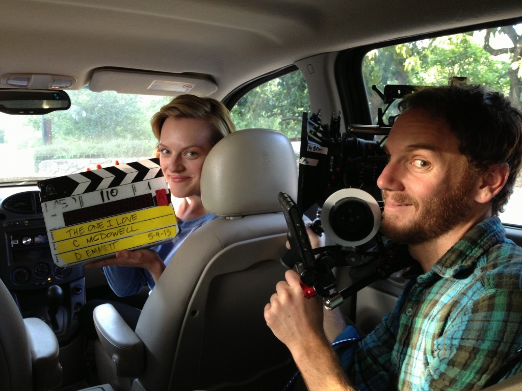 Emmett says director Charlie McDowell wanted to operate on one scene from the film. That's him manning the Red Epic for this car shot. Photo courtesy of Doug Emmett.