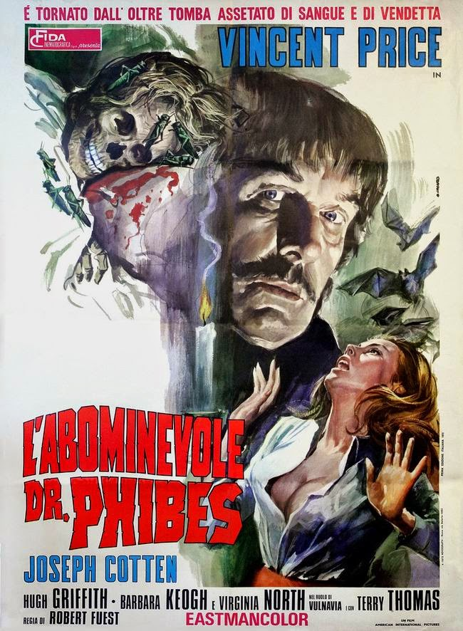 The Aboinable Dr. Phibes Italian poster (100yearsofmovieposters.blogspot.com)