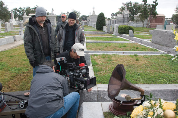 Behind the scenes of The Curious Case of Benjamin Button (2008).