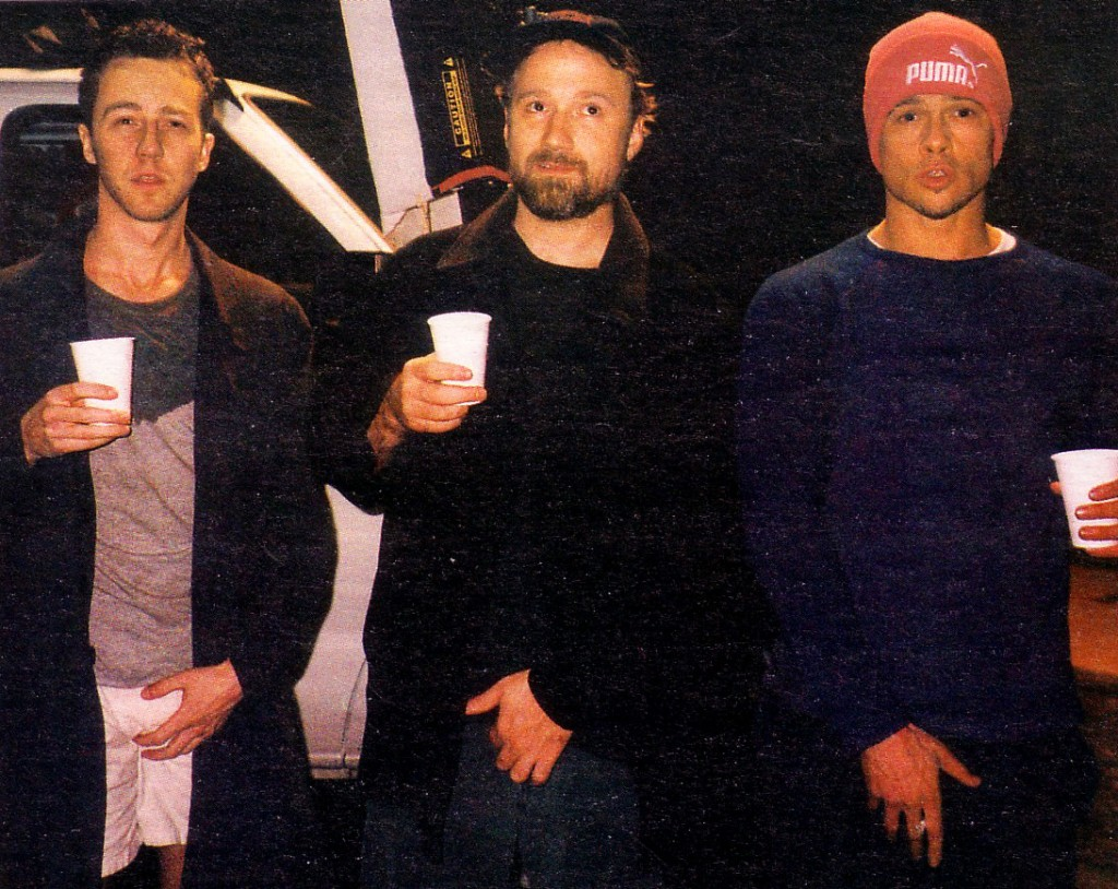 Behind the scenes of Fight Club (1999).