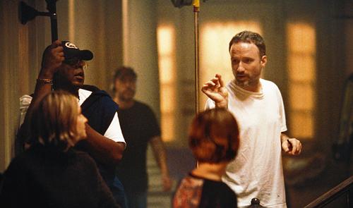 Behind the scenes of Panic Room (2002).