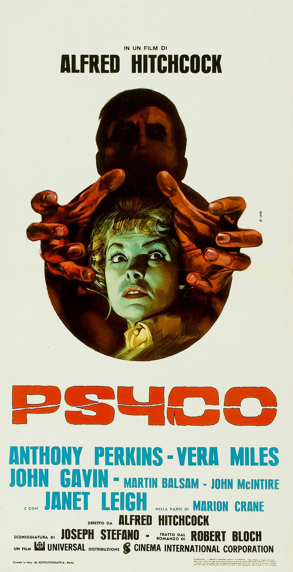 Psycho poster italian