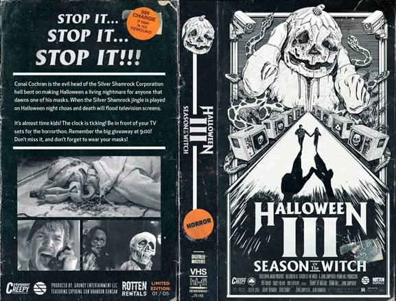 Halloween 3 (rotten rentals vhs box)