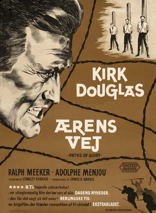 Paths of Glory (1957) danish poster kubrick douglas (41 astrange t)