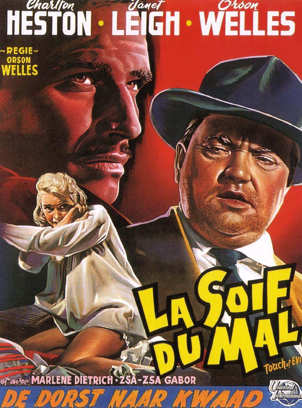 Touch of Evil (1958) belgian poster welles heston (41 strange)