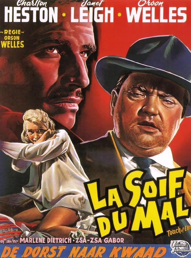Touch of Evil (1958) belgian poster welles heston (41 strange)