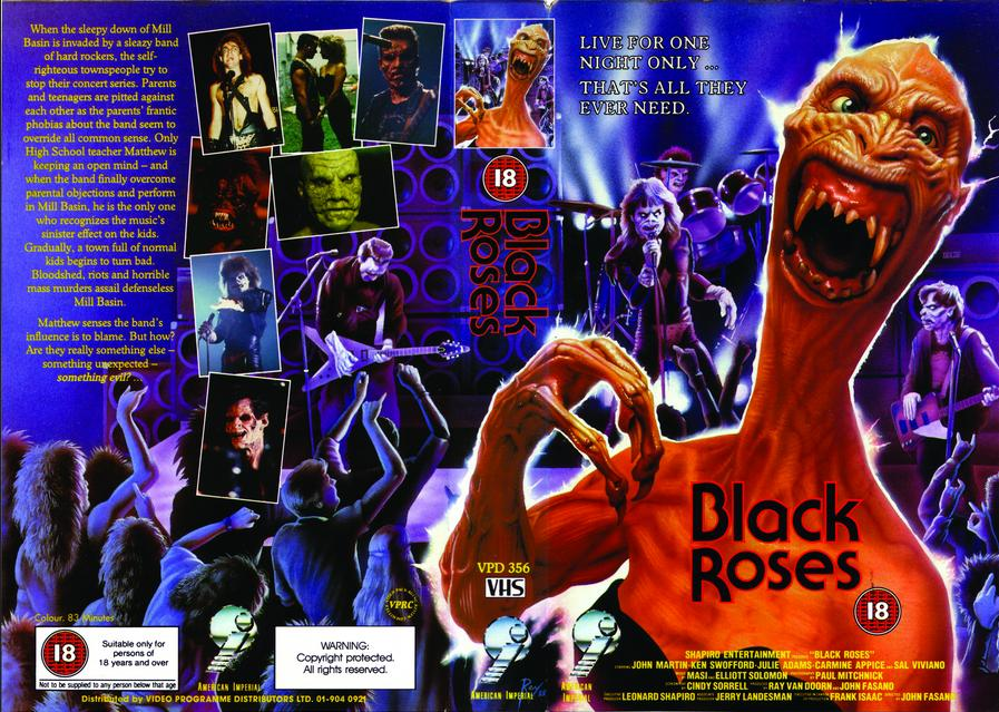 Black Roses vhs cover