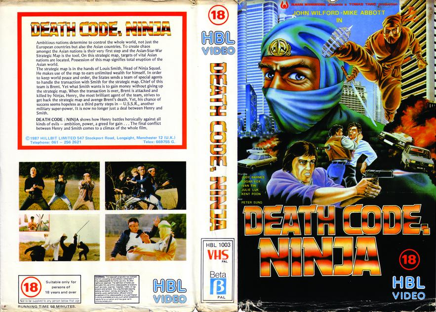Death Code Ninja vhs cover