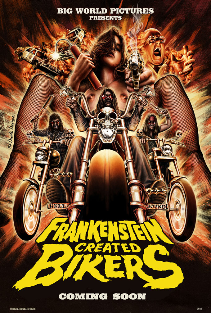 Tom Hodge Frankenstein Created Bikers poster