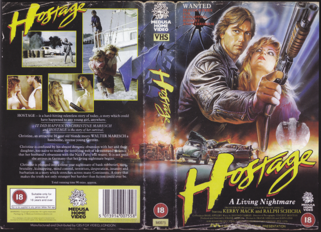 Hostage vhs cover