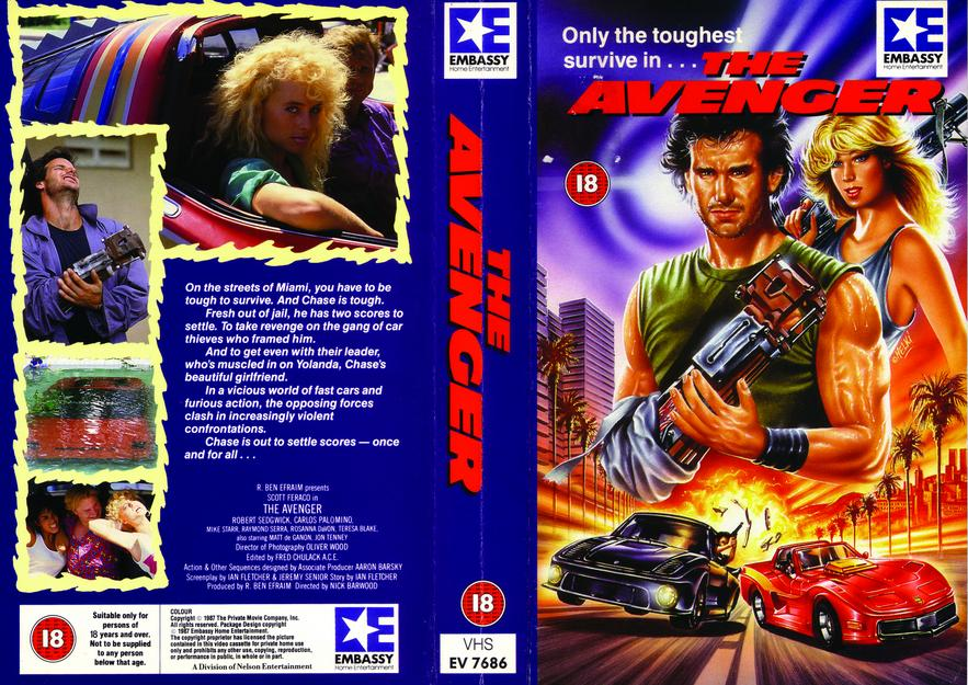 The Avenger vhs cover