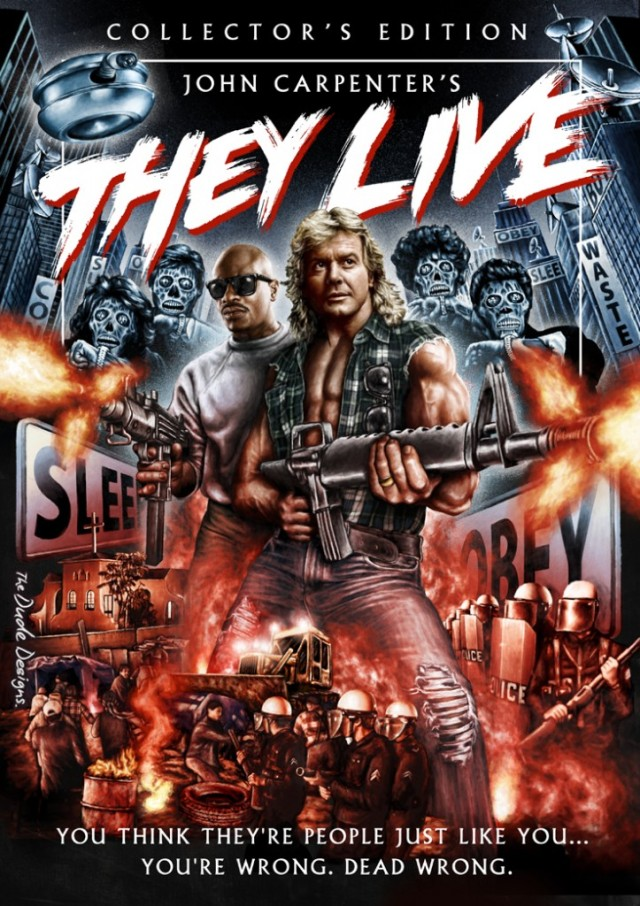 Tom Hodge They Live poster