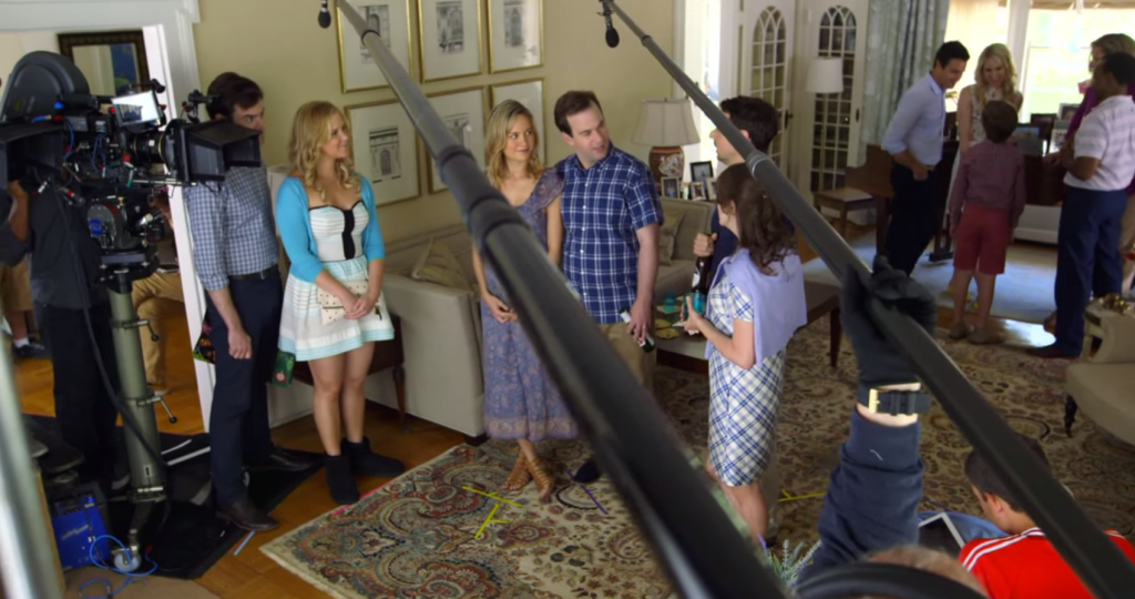Trainwreck behind the scenes, on the set of Trainwreck