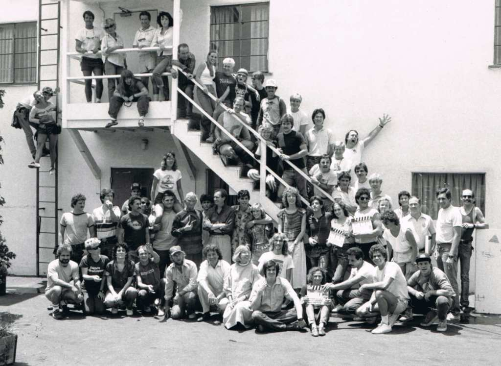 The Nightmare on Elm Street cast and crew shot.