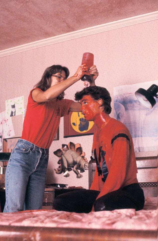 Johnny Depp - in his film debut - gets a Karo syrup bath.