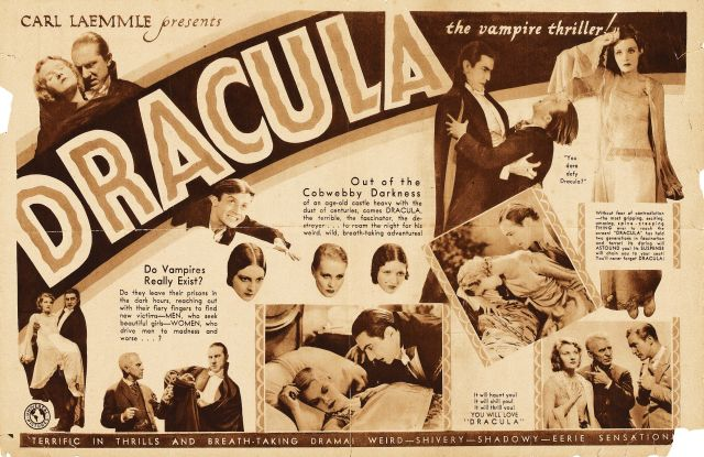 Original Dracula movie advertisement