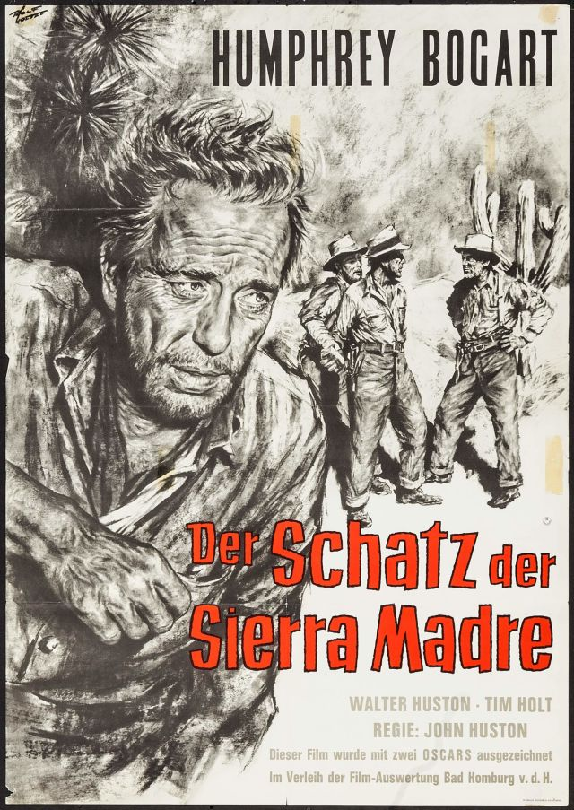 The Treasure of the Sierra Madre German poster
