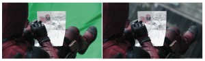 Deadpool before and after VFX