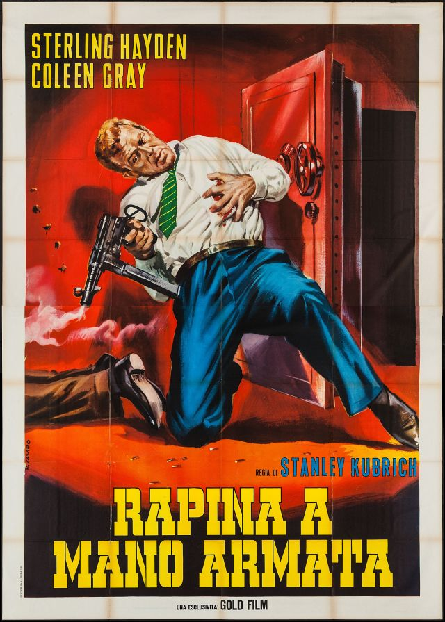 Italian poster for Stanley Kubrick's The Killing