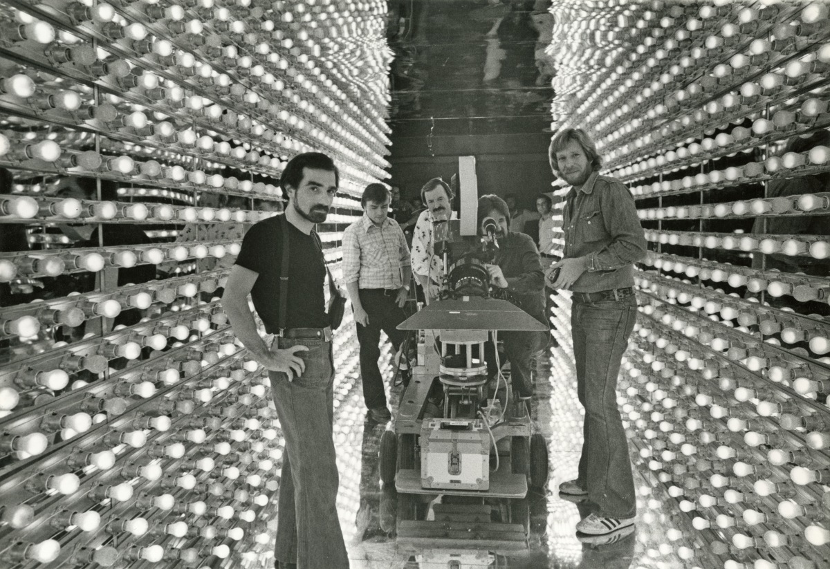 Martin Scorsese and Laszlo Kovacs on the set of New York, New York