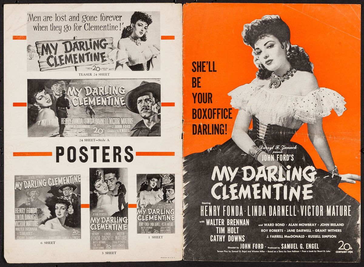 Pressbook for My Darling Clementine, John Ford