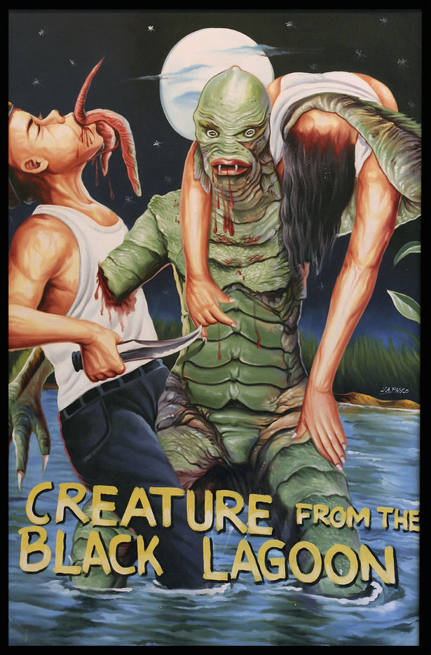Creature From the Black Lagoon ghana movie poster by ja fasco