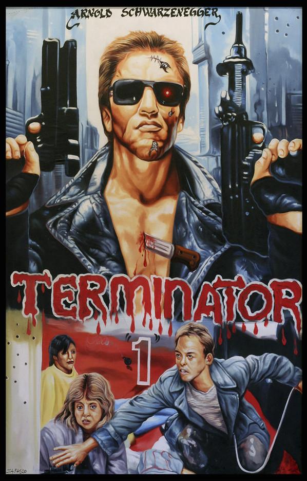 Terminator ghana movie poster by JA Fasco